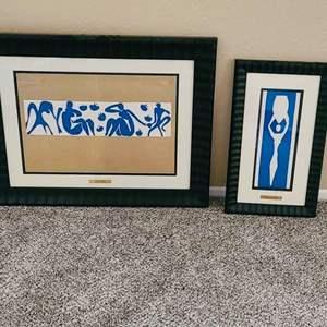 """Lot#118- Henri Matisse Framed """"Blue Nudes"""" Fine Art Prints"""