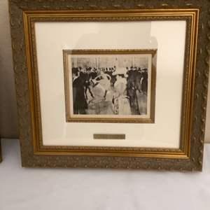 """Lot#125- Framed Fine Art Prints: """"Le De Creteit"""" by Paul Cezanne"""