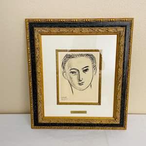 Lot#126- 1946 Henri Matisse, Ilay Ehrenbourg Signed Print