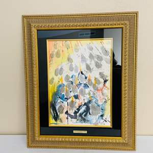 Lot#127- Framed Art with signature by Salvador Dali