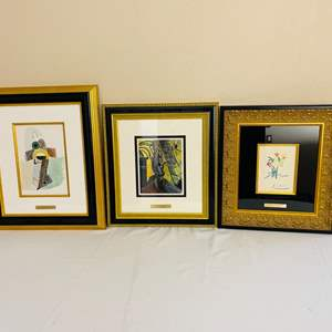 Lot#129-Pablo Picasso Fine Art Print, with signature and More!
