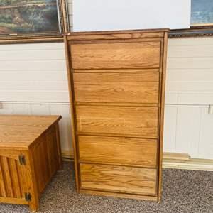 Lot#133- Tall Wood Dresser