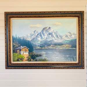 """Lot#134- Beautiful Painting """"Mt. Scent"""" by Schaeffer and More!"""