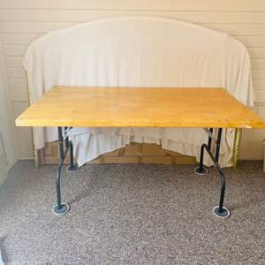Lot#139- Wooden Folding Table