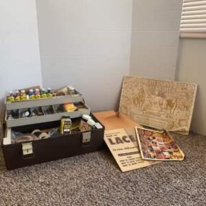 Lot#152- Vintage Leather Worker Kit! - FILLED!