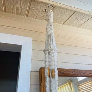 Lot#160- Macrame Hanging with Vintage Fold Up Chair