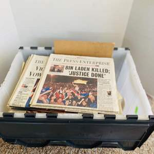 Lot#161- Collectible Newspapers Full of World Events Through Many Years, and More!