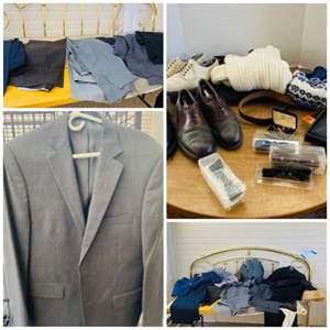 Lot#162- Men's Dress Clothes and More! M/L