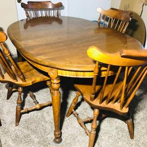 Lot#167- 1960's Maple Dining Room Table with More!