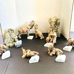 """Lot#168- Collectible Elephants! """"The Herd"""" by Marty Sculptures Inc."""