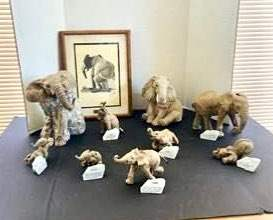 """Lot#169- More Elephant Collector's Pieces! """"The Herd"""" Vintage Art, and More!"""