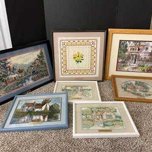 Lot#186- Cross Stitch Pictures