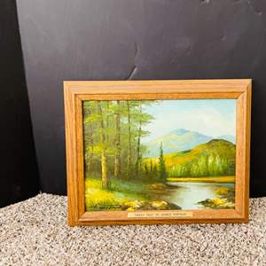 """Lot#187- Oil Painting, """"GREEN TREE"""" by George Whitman"""