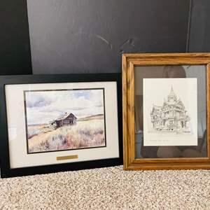 Lot#189- 2 Beautiful Framed Art Pieces