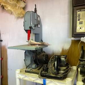 Lot # 304- A Woodworkers Dream! Delta bench saw, craftsman belt sander