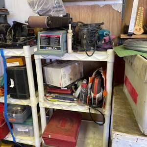 Lot # 305- Must-Have Garage Finds! Delta Sander- Power Tools & More!