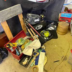 Lot # 317- Must-Have Shop Items! Air compressor and more!