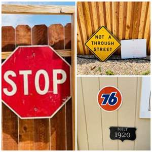 Lot # 322- Fun Signs! Add to Your Eclectic Collection!