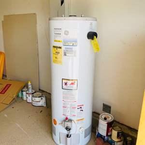 Lot # 8- GE gas water heater