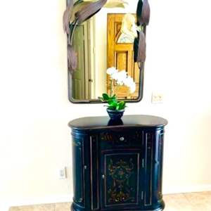 """Lot # 2- Wood Entry Table- """"Seven Seas"""" By Hooker Furniture"""