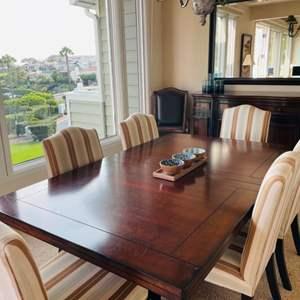 Lot # 5- Beautiful Wood Dinning Table- Seats 10!