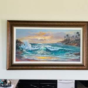 Lot # 6- Beautiful Beach Oil Painting