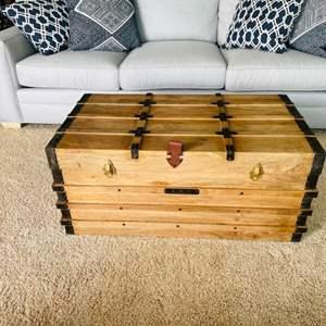 Lot # 9- Wooden Storage Chest