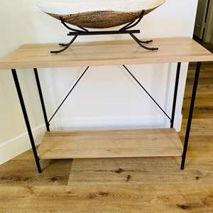 Lot # 3- Entry Table + Accent Piece
