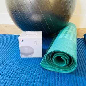 Lot # 15- Brand New Google Home + Fitness Items