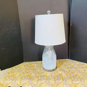 Lot # 18- Modern Lamp + Table Runner