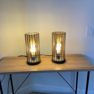 Lot # 19- Modern Industrial Style Lamps
