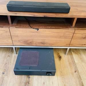 Lot # 25- SONY Sound Bar + Speaker