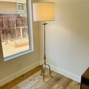 Lot # 29- Modern Silver Floor Lamp