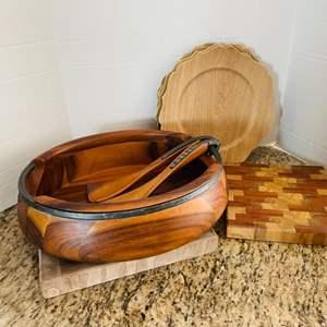 Lot # 47- Beautiful Wooden Kitchen Items