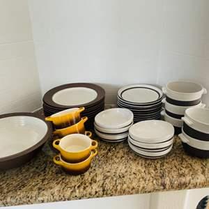Lot # 49- Crate & Barrel Stoneware