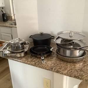 Lot # 55- All-Clad Pots & Pans