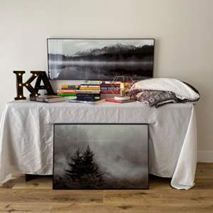 Lot # 71-Time to Relax with Books, Wall Art, Lamp, and More!