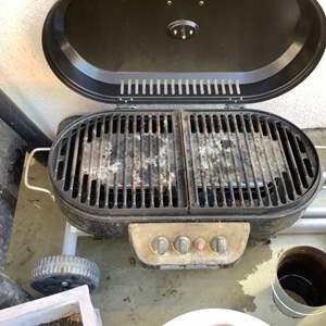 Lot # 103-Coleman Portable BBQ Grill with Pots