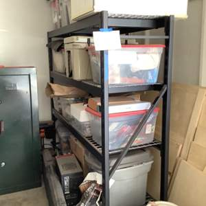 Lot # 114-Heavy Duty Metal Shelving Rack- Yep, Another One! Great Condition