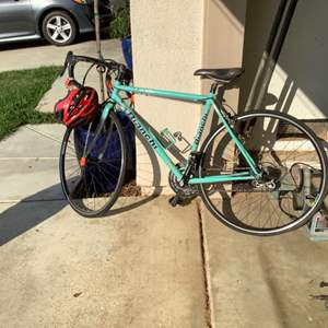 Lot # 117-Bianchi Bike with Extras! Great Condition- light weight road bike