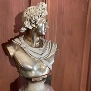 Lot # 2- B. Apollo Bust Sculpture with Column Pillar