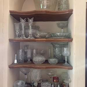 Lot # 12-Glassware-Possible Crystal Pieces
