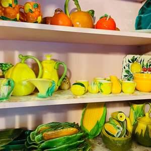 Lot # 36- Huge Lot of Lemon Themed Pottery!