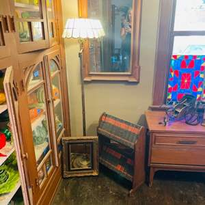 Lot # 41- Vintage Mirrors, Lamps, and Library Books
