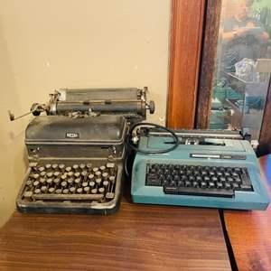 Lot # 46- 2 Vintage Typewriters, Royal and Smith Corona