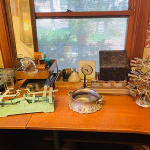 Lot # 48- Vintage Treasures, Including a Vintage Stamp Tree Carousel