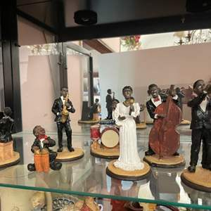 Lot # 52- Jazz Band 7-Piece Figurine Set