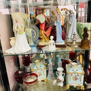 Lot # 53- Vintage Collectibles-Figurines + Genuine Porcelain Ware