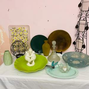 Lot # 63-  Gorgeous Glass Decanter + More