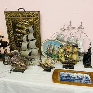 Lot # 65- Metal Ships and More